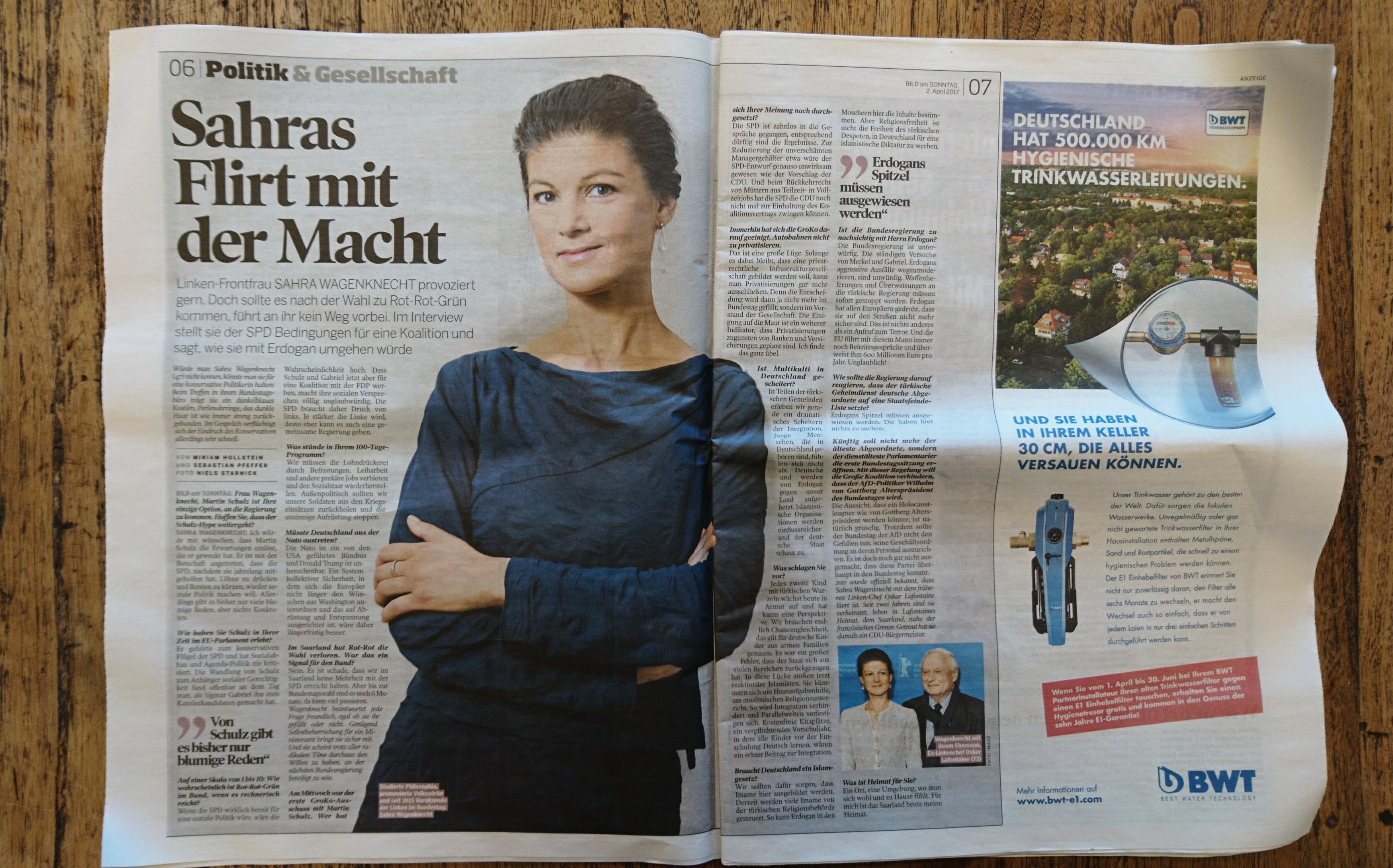 Interview Wagenknecht BamS 02. April 2017